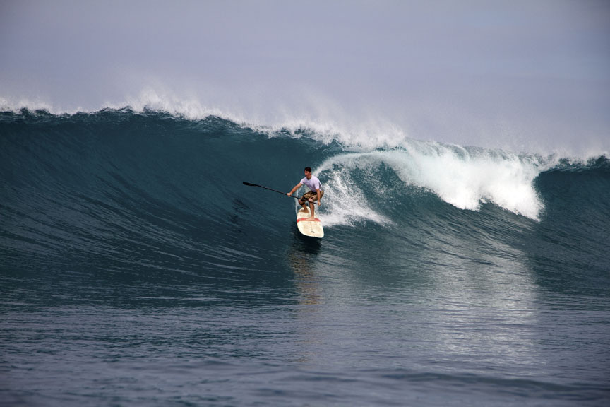 Jeremy Riggs SUP surfing Maui HI paddle with riggs